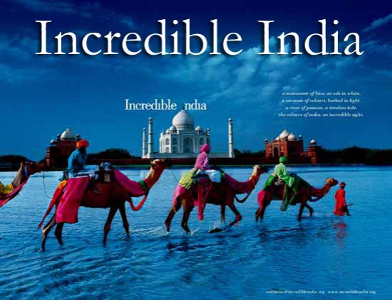 Incredible India Taj Mahal Camels