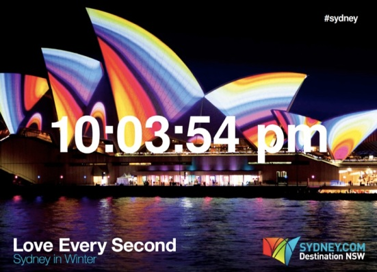 Love Every Second Opera House, Destination NSW