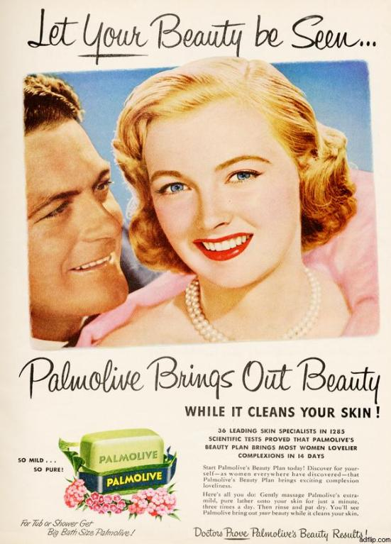 Palmolive Soap Print Ad 1950s