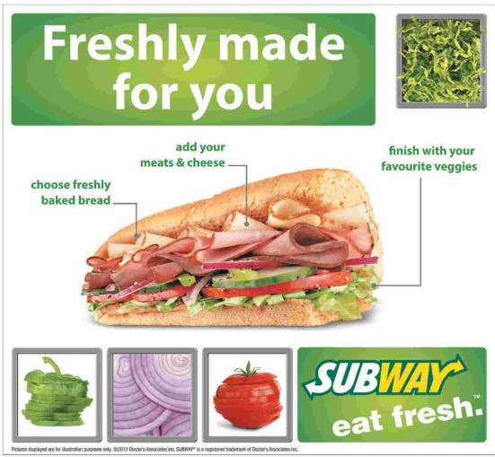 Subway Freshly Made For You