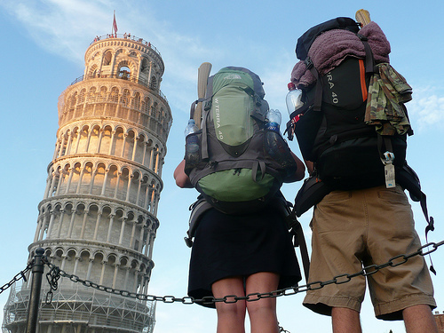 asa & channing at the tower of pisa by lindyi, Flickr