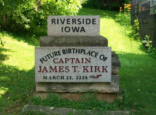 Riverside Iowa- Future Birthplace Capt James T Kirk, Waymarking