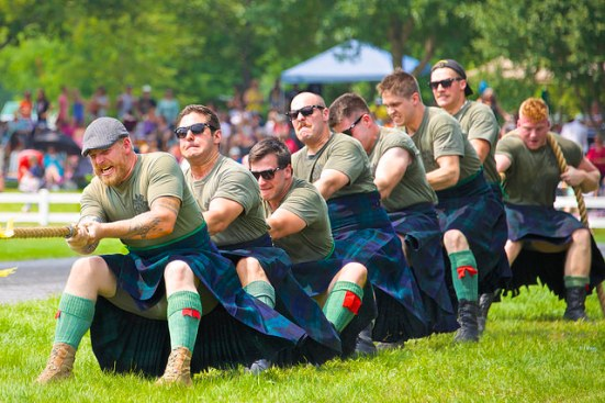 Highlands Regiment Tug-of-War by Jamie McCaffrey, Flickr